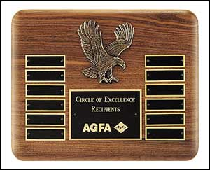"OCTP2296 - 10-1/2"" x 13"" Eagle Perpetual Plaque"