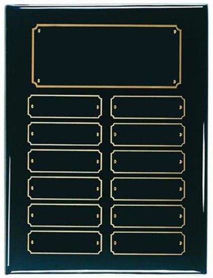 "9"" X 12"" Black Piano Finish Perpetual Plaque"
