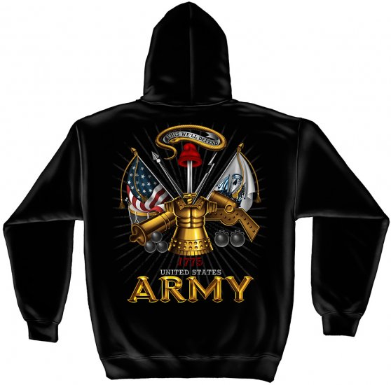 Hooded Sweat Shirt Army Antique Armor