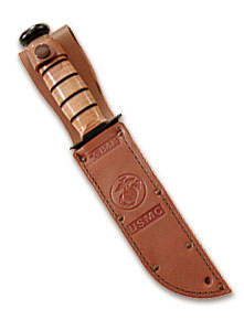 1217S Replacement Sheath: Brown Leather, KA BAR Leather USMC