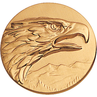 "Eagle Head 2"" Stamped Medallion"