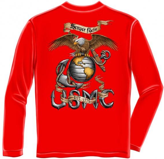 Long Sleeve USMC Eagle USMC