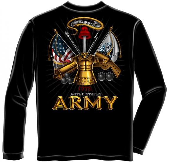 Long Sleeve Army Antique Armor Black