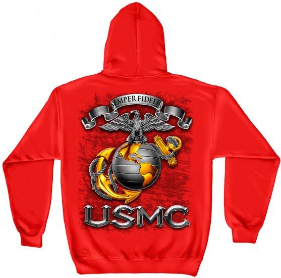 Hooded Sweat Shirt USMC-Semper Fidelis