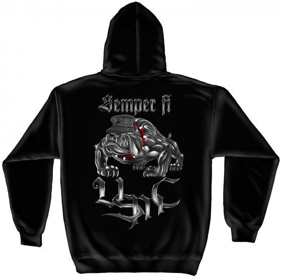 Hooded Sweat Shirt Chrome Dog Sempri Fi