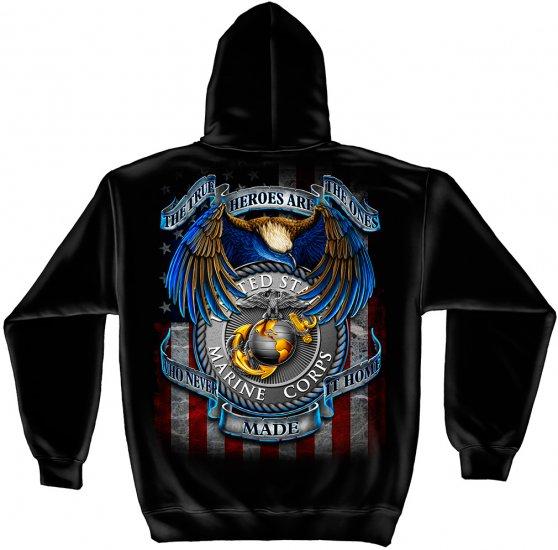 Hooded Sweat Shirt Heroes Marines