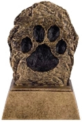 OCCRS-487 - Paw Print Resin Trophy