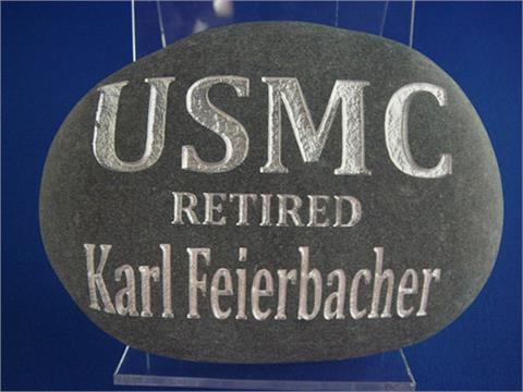 Black USMC Stone