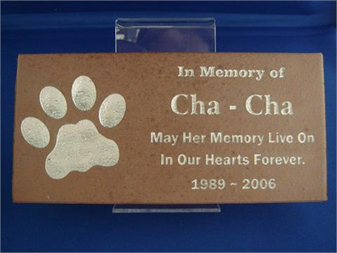 Sand Carved Brick Face Pet Marker