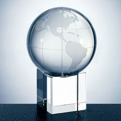 OCPRC580CBEL - Medium World Globe With Cube Base