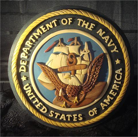 OCLO10 - Department Of The Navy Wood Seal