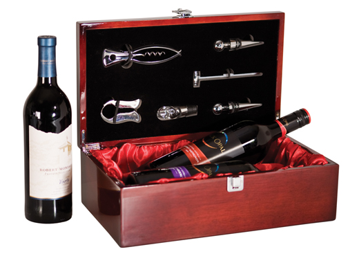 OCJWBX02 - Rosewood Piano Finish Double Wine Bottle Box