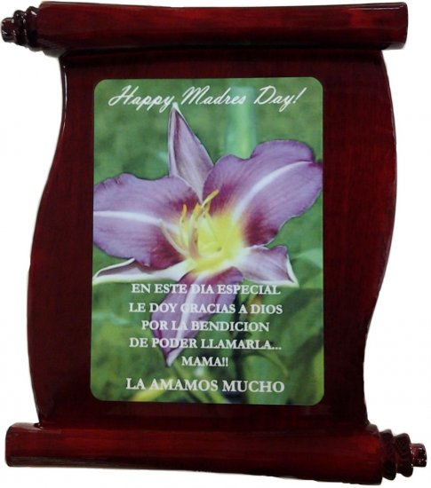"""8"""" X 10"""" Rosewood Scroll Plaque w/Sublimation Plate"""