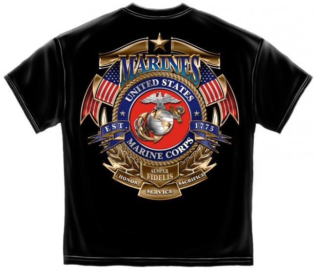 USMC Badge Of Honor Black