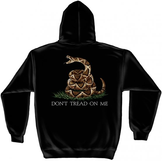 Hooded Sweat Shirt T Don't Tread On Me