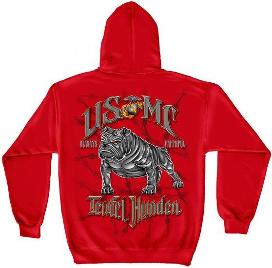 "Hooded Sweat Shirt USMC "" Teufel Hunden"""
