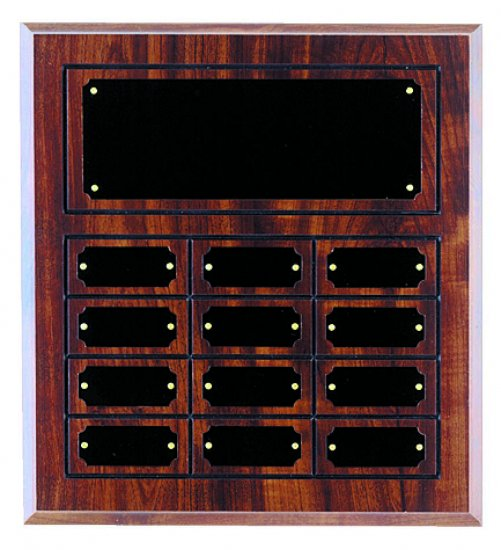 """12"""" X 15 1/2"""" Cherry Finished Perpetual Plaque"""