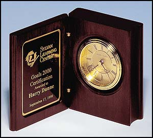 OCTBC69 - Mahogany Finish Book Clock
