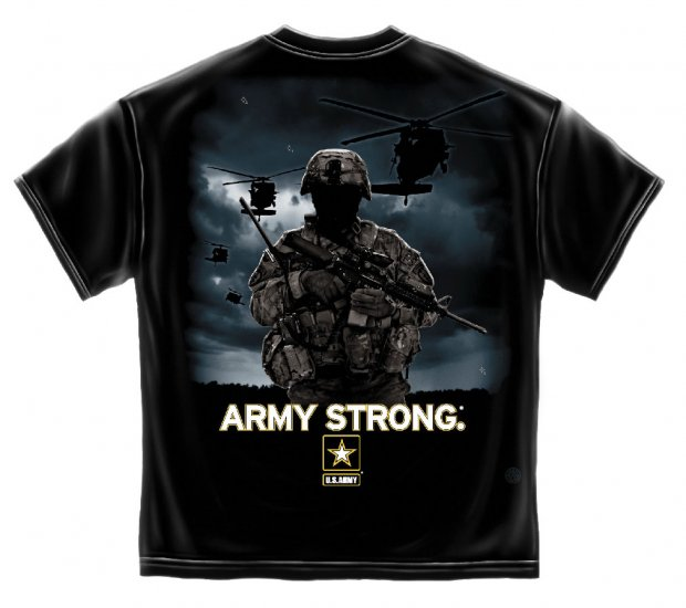 Army Strong Helicopter Solider Black
