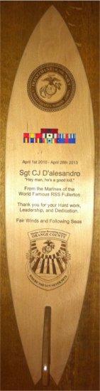Surf Board Plaque